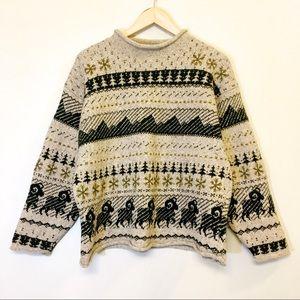 Vintage Woolrich Knit Pattern Handmade Sweater